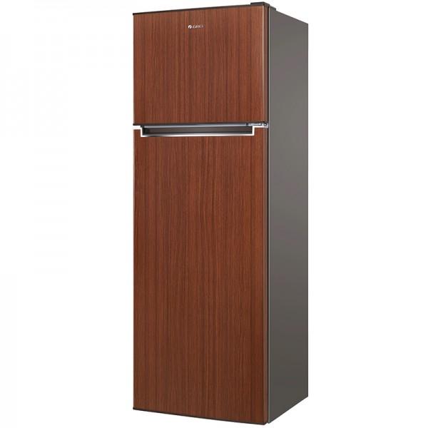 Double Door Refrigerator Brown